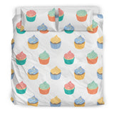 Cupcakes White Bedding Set