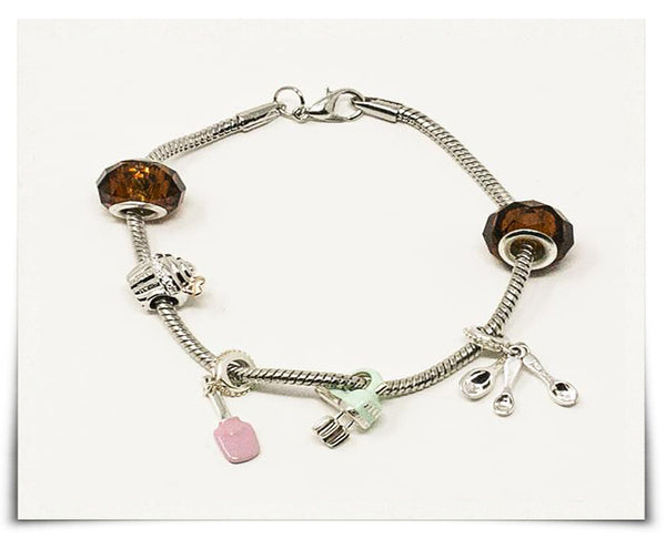 Love Is Sweet Baking Charms Bracelet (Premium)