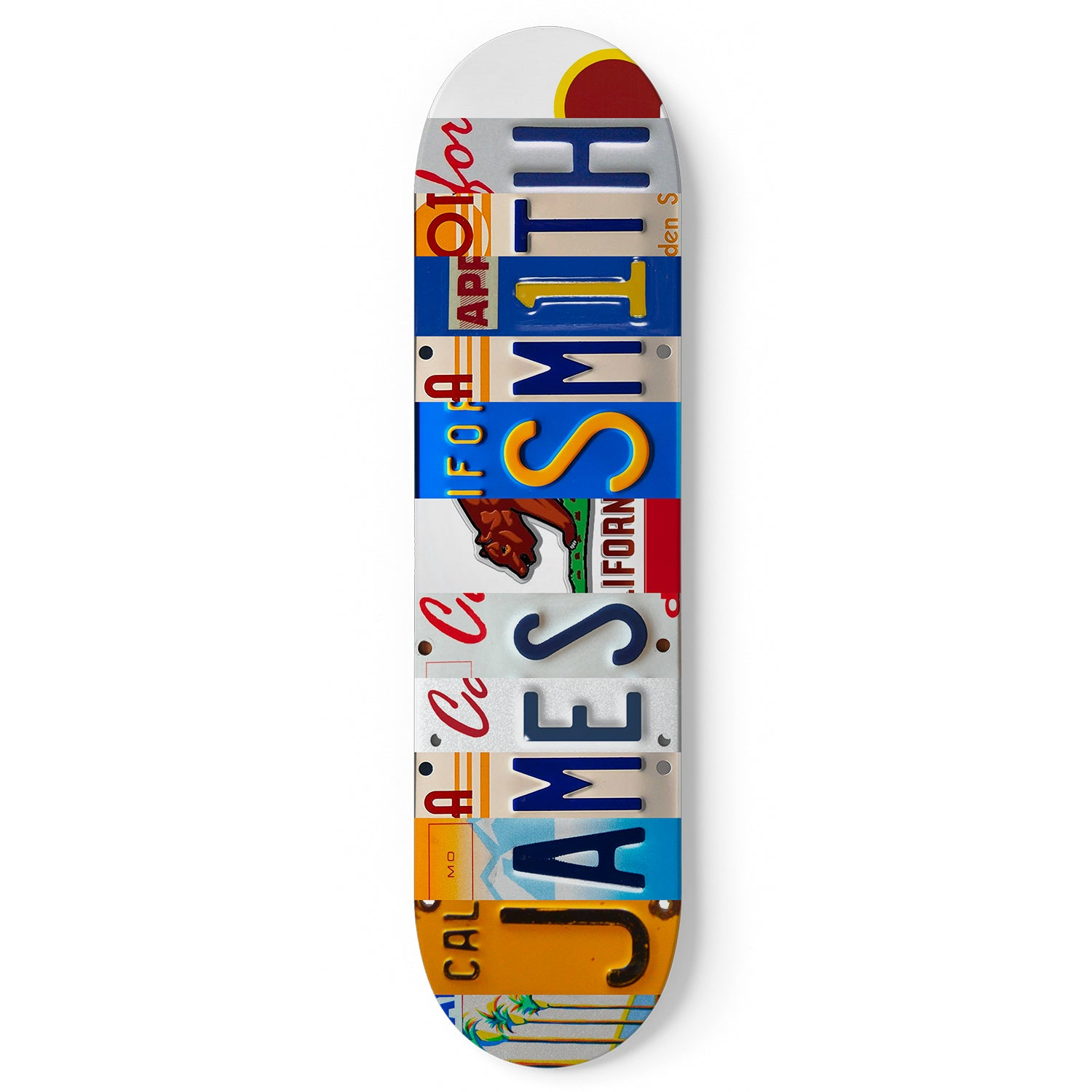 Personalized Skateboard California License Plate Design