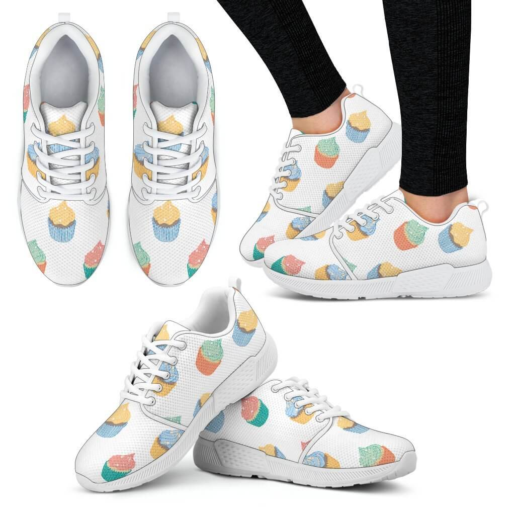 Cupcake Pattern Women's Sneakers