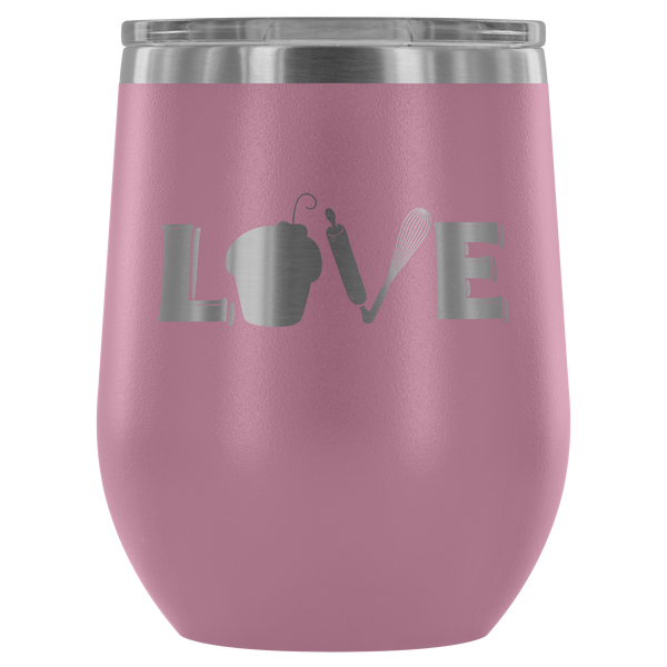 Love Baking Laser Etched Wine Tumbler (Premium)