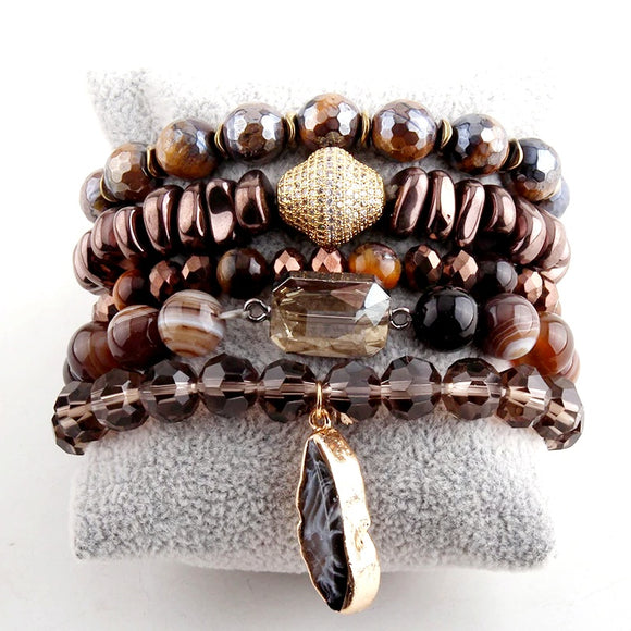 Tiger Eyes Stone Set Bracelet