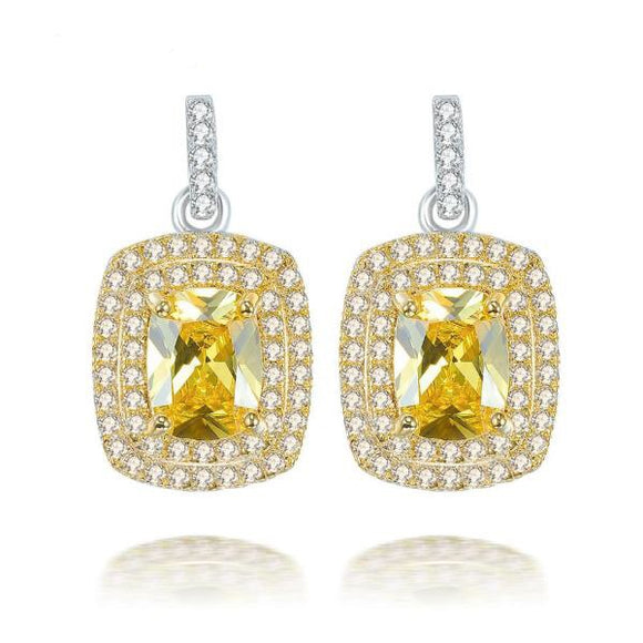 Golden Citrine Peandat Earring