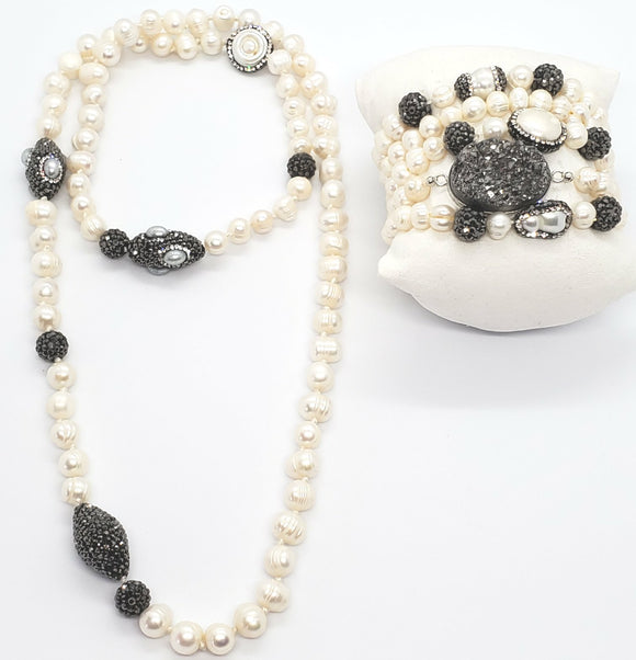 Pearl Set Necklace & Bracelet