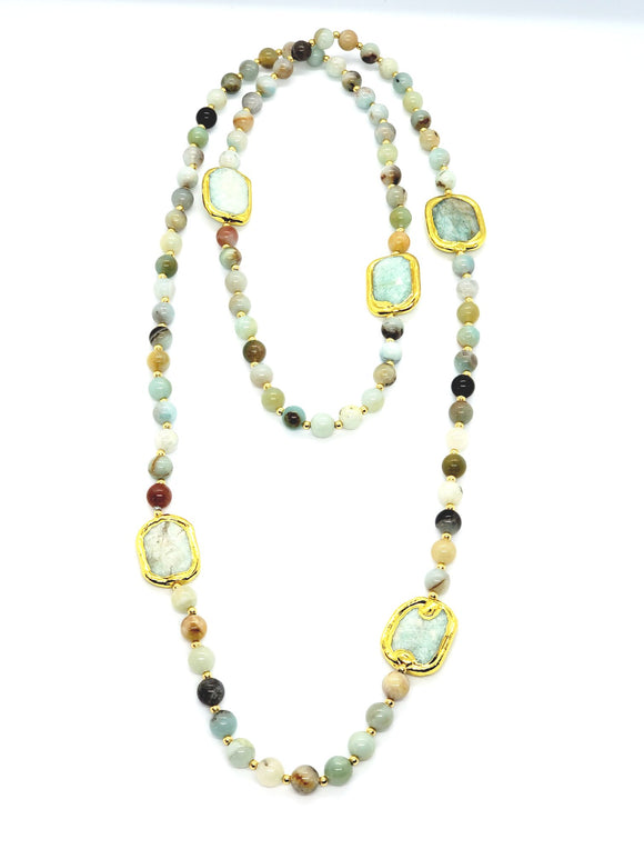 Amazonite Long Necklace