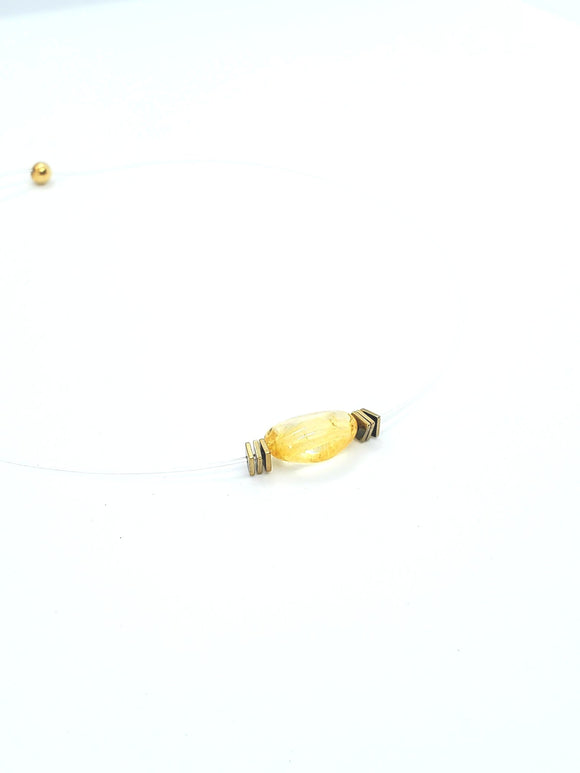 Natural Citrine Choker