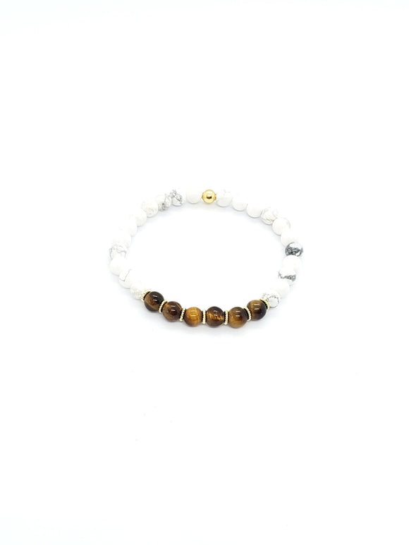 Tiger Eyes & Howlite Stretch Bracelets