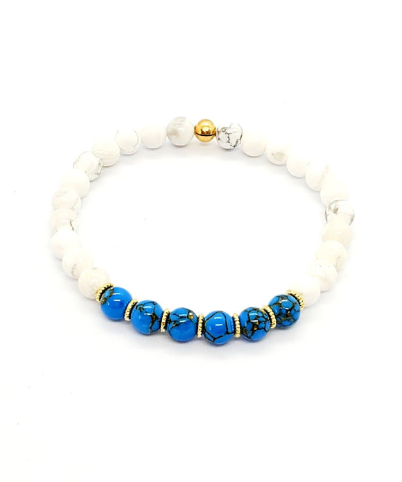 Turquoise & Howlite Stretch Bracelets