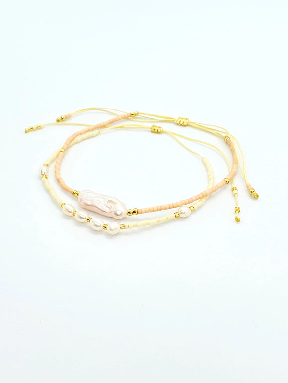 Pearl Set Bracelet Adjustable