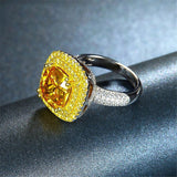 Golden Citrine Stone & Sterling Silver Ring