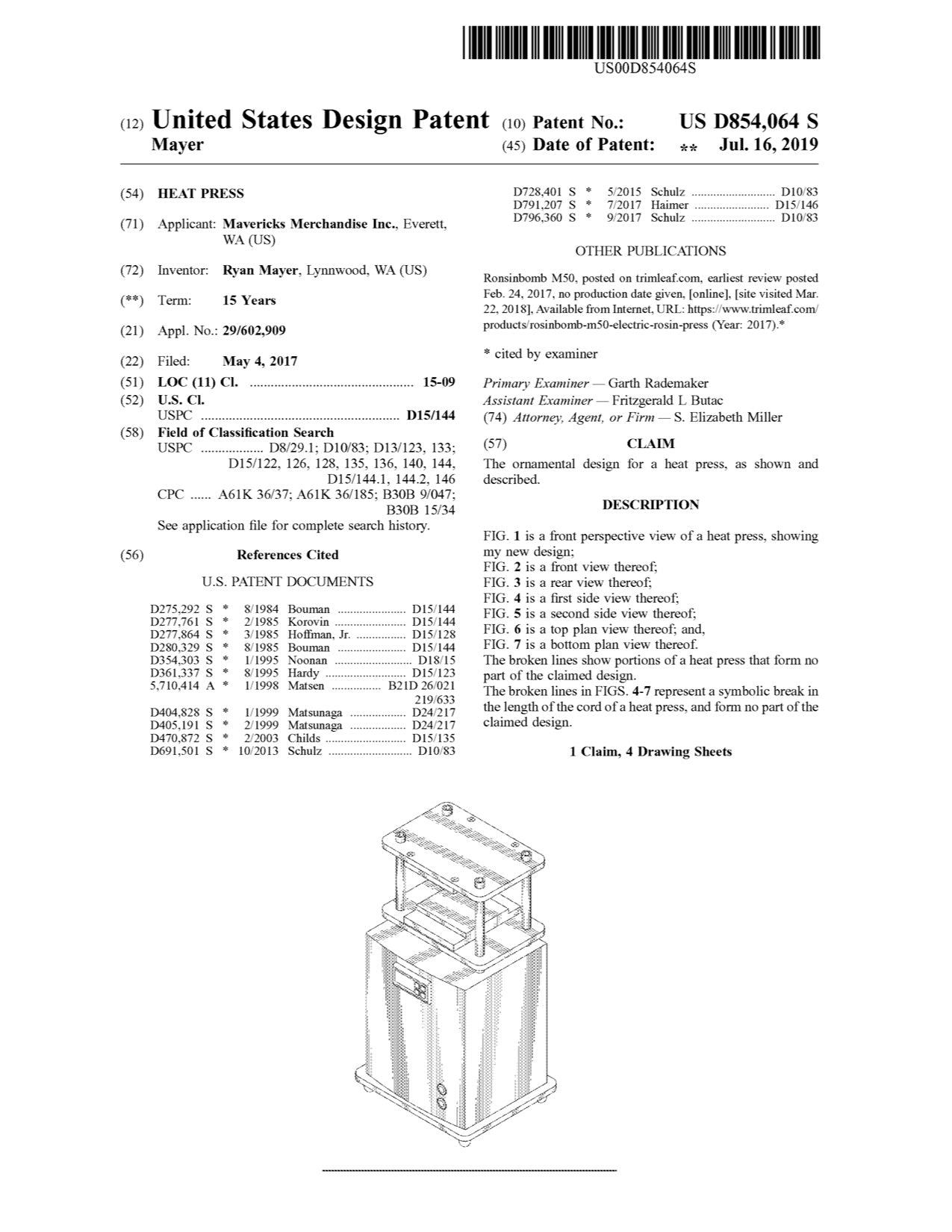 Maverick Technology Solutions Patent D854064