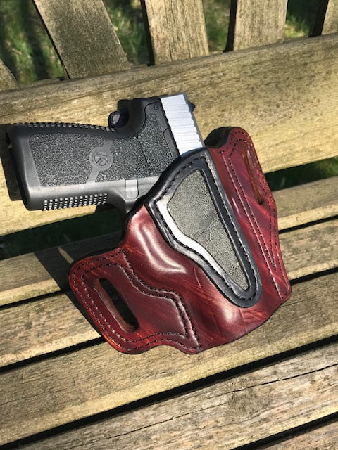 Kahr CW9 with elephant embossed leather  OWB HOLSTER