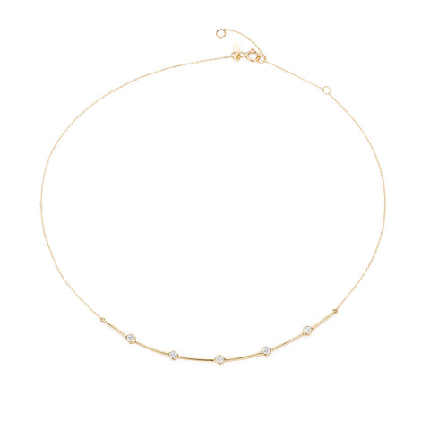 5 Diamond Curve Collar