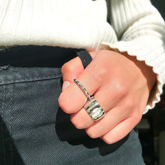 Diamond Stripe Band Ring