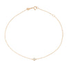 Single Diamond Anklet