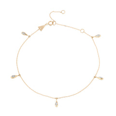 Water Drop Chain Anklet