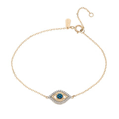 Tiny Pavé Evil Eye Bracelet