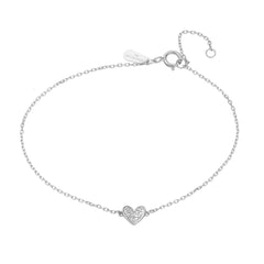Super Tiny Pavé Folded Heart Bracelet