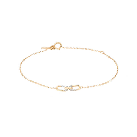 Pavé Interlocking Link Bracelet