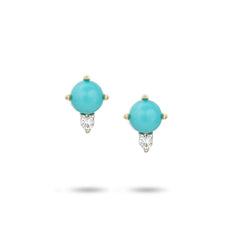 Turquoise + Round Diamond Posts