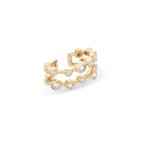 Diamond Barnacles Double Ear Cuff