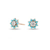 Tiny Turquoise + Diamond Flower Posts