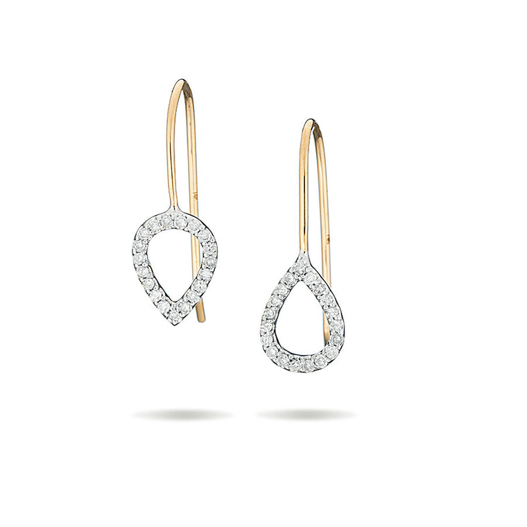 Open Pavé Teardrop Earrings