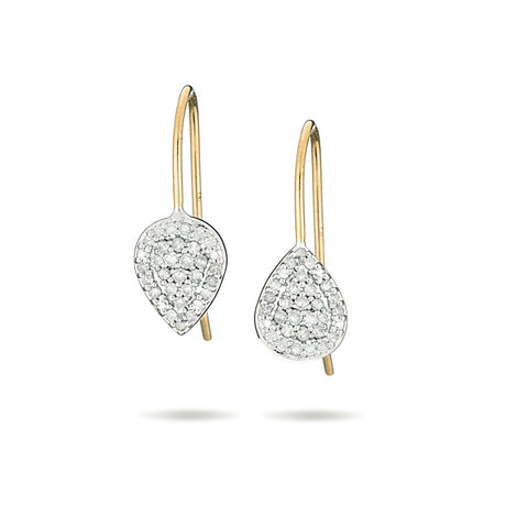 Solid Pavé Teardrop Earrings
