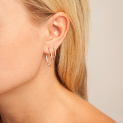 Small Pavé Hoops
