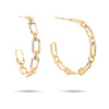 Medium Pavé Interlocking Link Hoops