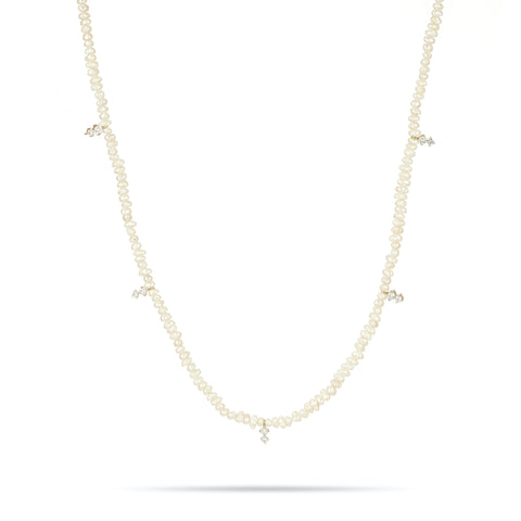 2 Diamond Amigos Freshwater Pearl Chain Necklace