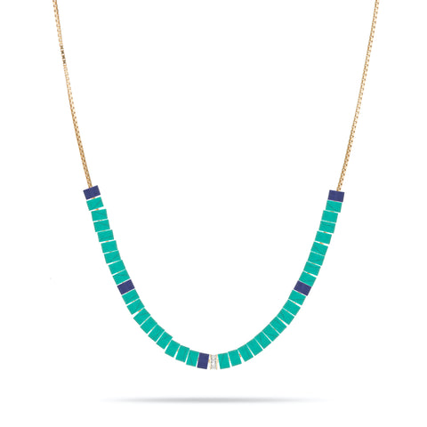 Baguette, Turquoise & Lapis Necklace Kit