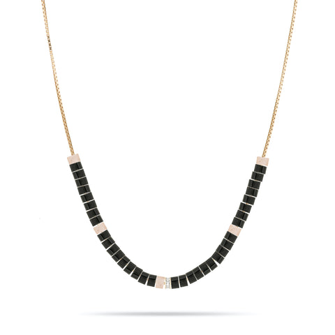 Baguette, Onyx & Rose Quartz Necklace Kit
