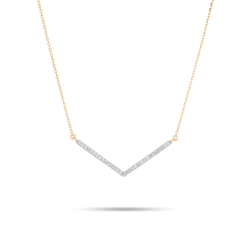 Large Pavé V Necklace