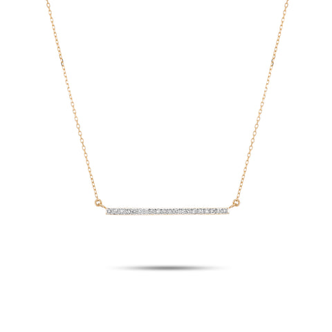Large Pavé Bar Necklace