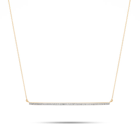 XL Pavé Bar Necklace