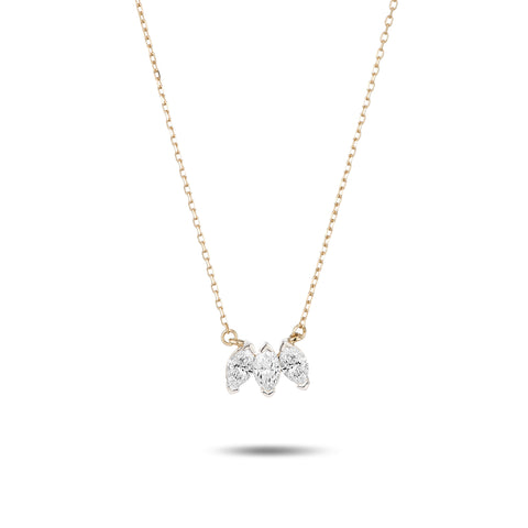 Grace 3 Marquise Necklace
