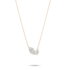 Tiny Pavé 2 Marquise Necklace
