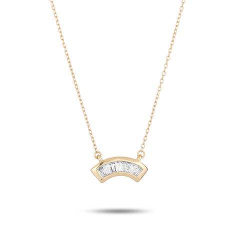 Heirloom Baguette Arc Necklace