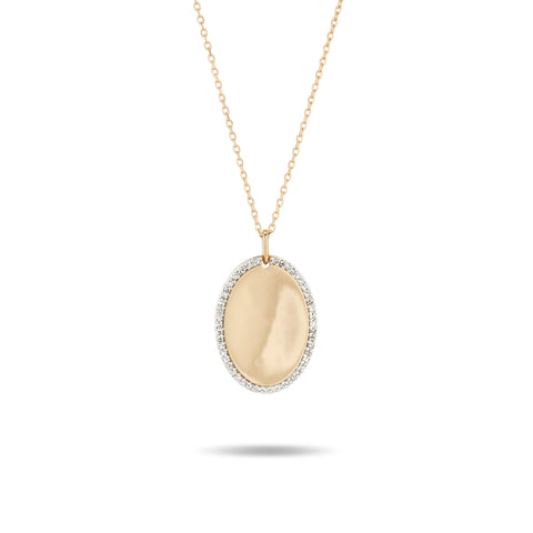 Oval Pavé + Baguette Dog Tag