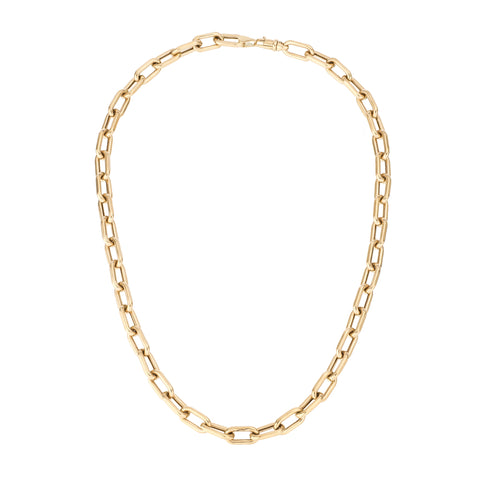 7mm Italian Chain Link Necklace
