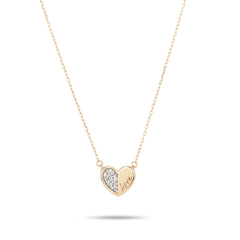 Love Pavé Folded Heart Necklace