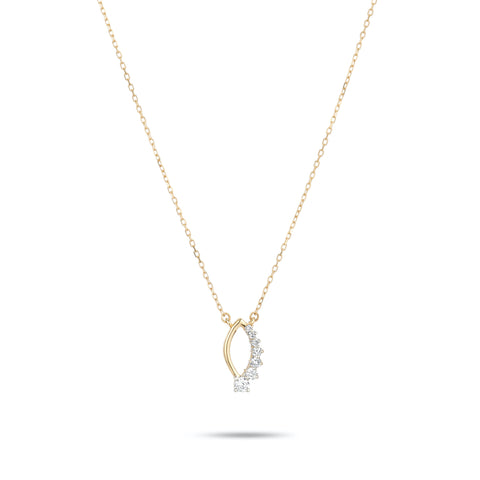 Super Tiny Side Diamond Marquise Necklace