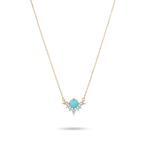 Turquoise + Marquise Diamond Necklace