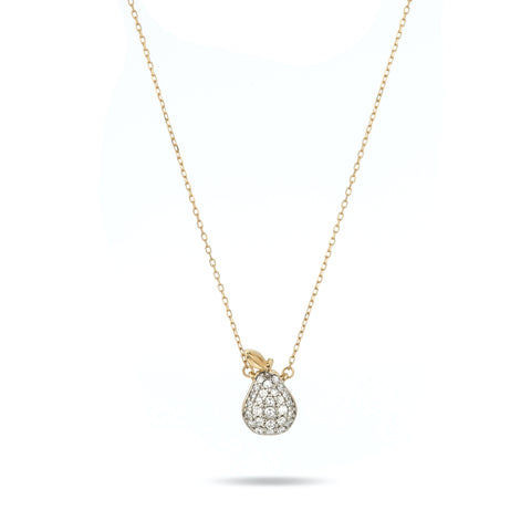 Fresh Fruit Pavé Pear Necklace