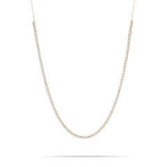 Round Diamond Half Riviera Necklace