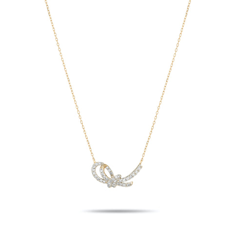 Pavé Forget Me Knot Necklace