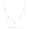 Pave Water Drop Chain Necklace
