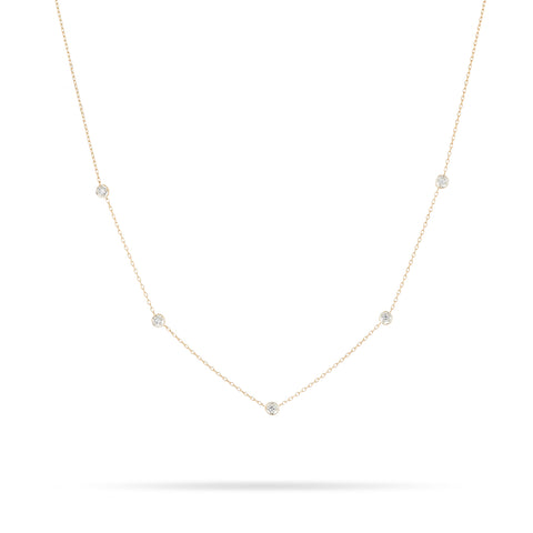5 Diamond Chain Necklace