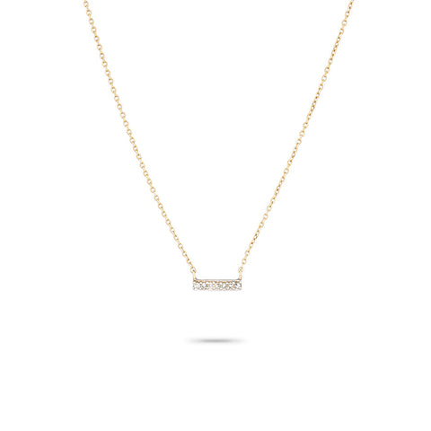 Super Tiny Pavé Bar Necklace